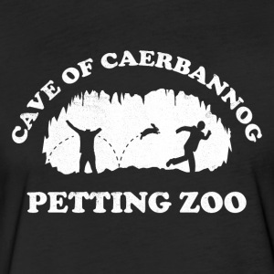 Cave of Caerbannog Petting Zoo - Fitted Cotton/Poly T-Shirt by Next Level