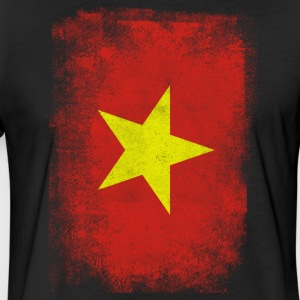 Vietnam Flag Proud Vietnamese Vintage Distressed - Fitted Cotton/Poly T-Shirt by Next Level