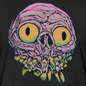 Bugeyed Freak - Brain Pink - Fitted Cotton/Poly T-Shirt by Next Level