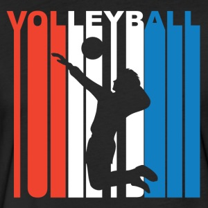 Red White And Blue Volleyball - Fitted Cotton/Poly T-Shirt by Next Level