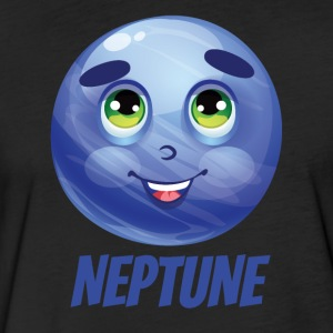 Cartoon Planet Neptune - Fitted Cotton/Poly T-Shirt by Next Level