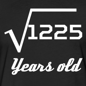 Square Root Of 1225 35 Years Old - Fitted Cotton/Poly T-Shirt by Next Level