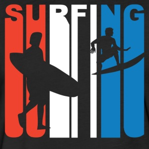 Red White And Blue Surfing - Fitted Cotton/Poly T-Shirt by Next Level