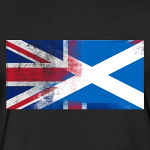 British Scottish Half Scotland Half UK Flag - Fitted Cotton/Poly T-Shirt by Next Level