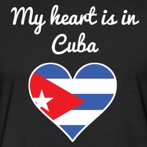 My Heart Is In Cuba - Fitted Cotton/Poly T-Shirt by Next Level