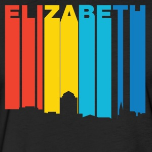 Retro 1970's Style Elizabeth New Jersey Skyline - Fitted Cotton/Poly T-Shirt by Next Level