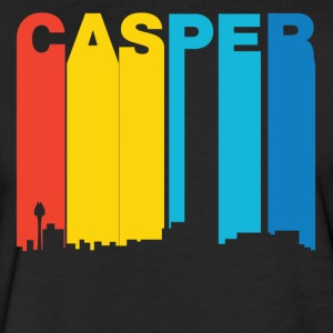 Retro 1970's Style Casper Wyoming Skyline - Fitted Cotton/Poly T-Shirt by Next Level