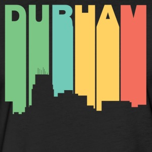 Retro 1970's Style Durham North Carolina Skyline - Fitted Cotton/Poly T-Shirt by Next Level