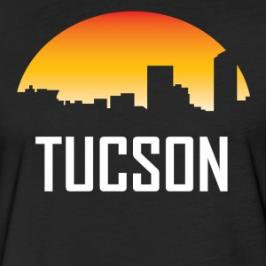 Tucson Arizona Sunset Skyline - Fitted Cotton/Poly T-Shirt by Next Level