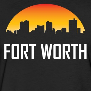 Fort Worth Texas Sunset Skyline - Fitted Cotton/Poly T-Shirt by Next Level