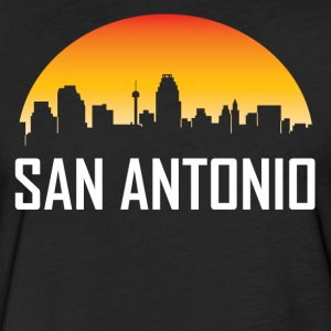 San Antonio Texas Sunset Skyline - Fitted Cotton/Poly T-Shirt by Next Level