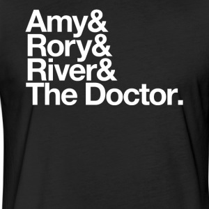 Amy & Rory & River & The Doctor. - Fitted Cotton/Poly T-Shirt by Next Level