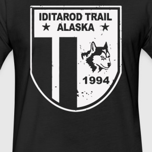 Iditarod Trail Race Alaska Sled Dog Racing - Fitted Cotton/Poly T-Shirt by Next Level