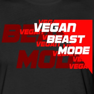VEGANBEASTMODE [red] - Fitted Cotton/Poly T-Shirt by Next Level