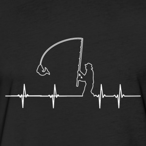 Fisher! Angler! Heart Rate! funny! - Fitted Cotton/Poly T-Shirt by Next Level