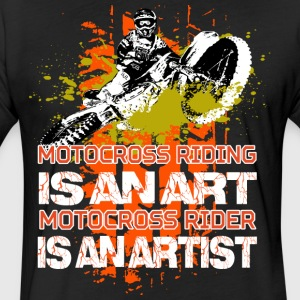 Motocross riding - Fitted Cotton/Poly T-Shirt by Next Level
