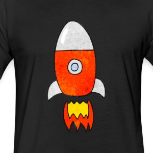 Rocket - Fitted Cotton/Poly T-Shirt by Next Level