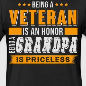 Being A Veteran Is An Honor T Shirt - Fitted Cotton/Poly T-Shirt by Next Level