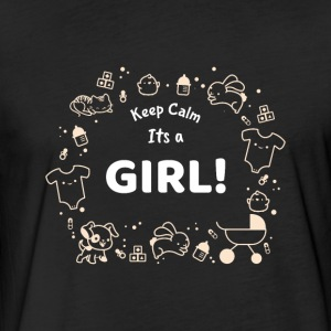Keep Calm - it´s a girl - baby shower party shirt - Fitted Cotton/Poly T-Shirt by Next Level