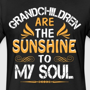 Grandchildren Are The Sunshine To My Soul T Shirt - Fitted Cotton/Poly T-Shirt by Next Level