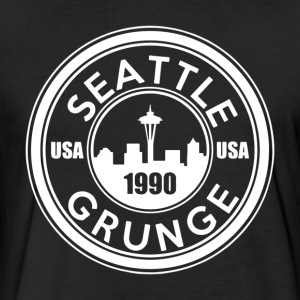 Grunge Seattle 1990 - Fitted Cotton/Poly T-Shirt by Next Level