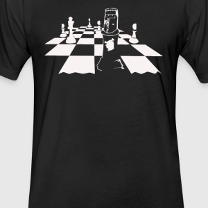 King Arthur Chess Pieces - Fitted Cotton/Poly T-Shirt by Next Level