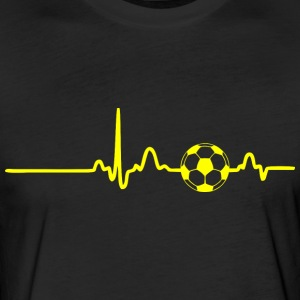 EKG HEARTBEAT BALL yellow - Fitted Cotton/Poly T-Shirt by Next Level