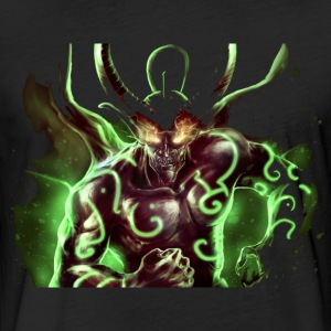 Green demon - Fitted Cotton/Poly T-Shirt by Next Level