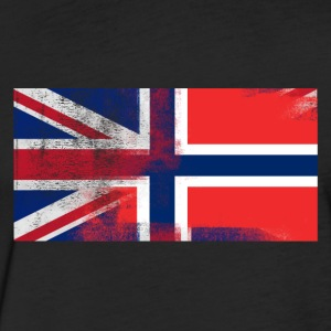 British Norwegian Half Norway Half UK Flag - Fitted Cotton/Poly T-Shirt by Next Level