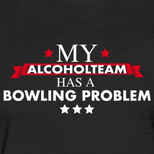 Bowling Teamshirt for professional drinkers - Fitted Cotton/Poly T-Shirt by Next Level