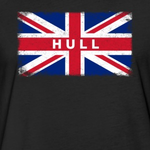 Hull Shirt Vintage United Kingdom Flag T-Shirt - Fitted Cotton/Poly T-Shirt by Next Level