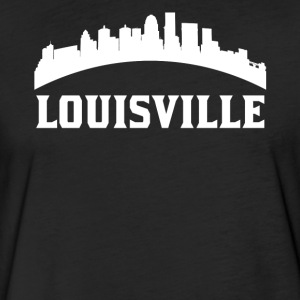Vintage Style Skyline Of Louisville KY - Fitted Cotton/Poly T-Shirt by Next Level