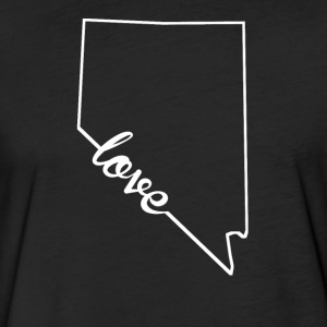Nevada Love State Outline - Fitted Cotton/Poly T-Shirt by Next Level
