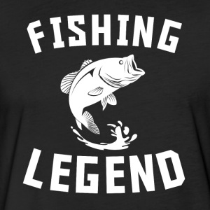 Fishing Legend Cool Bass Fishing - Fitted Cotton/Poly T-Shirt by Next Level