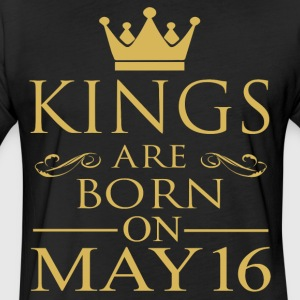 Kings are born on May 16 - Fitted Cotton/Poly T-Shirt by Next Level