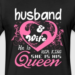 Husband And Wife T Shirt - Fitted Cotton/Poly T-Shirt by Next Level
