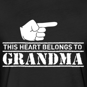 This Heart belongs to Grandma - Fitted Cotton/Poly T-Shirt by Next Level