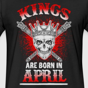April - Birthday - Kings - EN - Fitted Cotton/Poly T-Shirt by Next Level