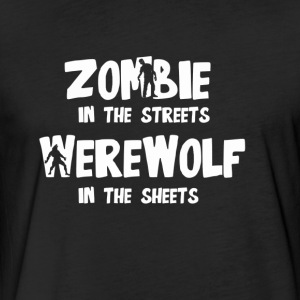 Zombie In The Streets - Fitted Cotton/Poly T-Shirt by Next Level