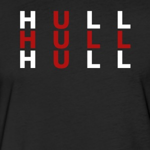 Hull United Kingdom Flag Shirt - Hull T-Shirt - Fitted Cotton/Poly T-Shirt by Next Level