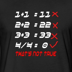 POOR MATH CALCULATION - Fitted Cotton/Poly T-Shirt by Next Level