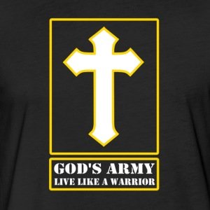 God's Army Live Like A Warrior - Fitted Cotton/Poly T-Shirt by Next Level