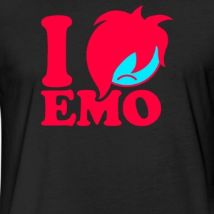 I Love Emo copy Funny Men's T-shirt - Fitted Cotton/Poly T-Shirt by Next Level