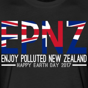 EPNZ Enjoy Polluted New Zealand Happy Earth Day - Fitted Cotton/Poly T-Shirt by Next Level