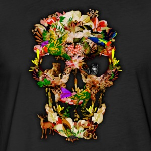 Animal Kingdom Sugar Skull - Fitted Cotton/Poly T-Shirt by Next Level
