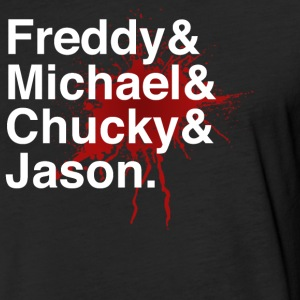Men of Horror - Fitted Cotton/Poly T-Shirt by Next Level