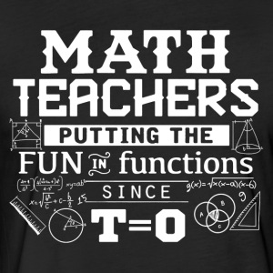 Math Teacher Shirt - Fitted Cotton/Poly T-Shirt by Next Level