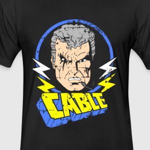 Cable • X-Men Cartoon - Fitted Cotton/Poly T-Shirt by Next Level