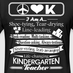 I Am A Kindergarten Teacher Shirt - Fitted Cotton/Poly T-Shirt by Next Level