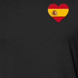 Spain Flag Shirt Heart - Spanish Shirt - Fitted Cotton/Poly T-Shirt by Next Level